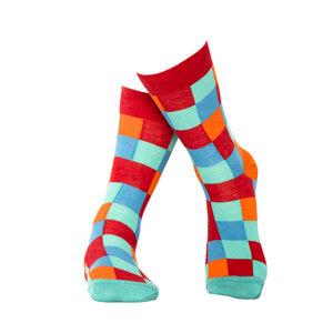 Rot Karierte Socken aus Bio-Baumwolle - MINGA BERLIN