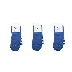 3 Paar blaue Sportsocken aus Bio-Baumwolle - MINGA BERLIN