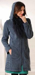 Mantel aus Bio-Baumwolle und Merinowolle mit Kapuze - Madness