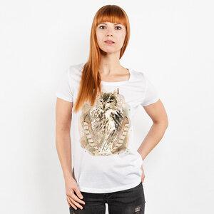 Ars Magna – Ancient Owl - Ladies Low Carbon Organic Cotton T-Shirt - Nikkifaktur