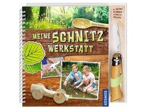 Buch Meine Schnitzwerkstatt, mit Opinel-Kindermesser - Kosmos Verlag