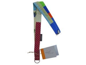 Leesha WILDe Upcycling Patchwork Schlüsselband aus Stoffresten - Leesha