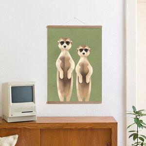 Set / Meerkats + Posterleiste Eiche 50 cm - Kleinwaren / von Laufenberg