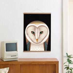 Set / Barn Owl + Posterleiste Eiche 50 cm - Kleinwaren / von Laufenberg