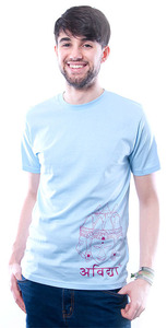 Indische Inspiration T-Shirt blau - 108 Degrees