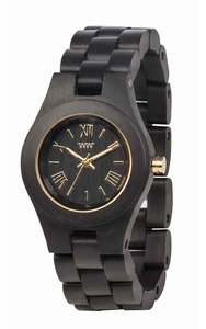 Holz-Armbanduhr CRISS BLACK/GOLD | Nur 24 Gramm | 100% hautverträglich - Wewood