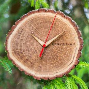 Wanduhr Forestime - stylische Uhr aus echtem Eichenholzstamm - Rio Lindo
