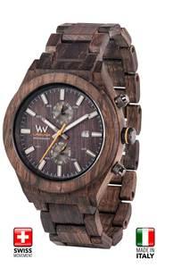Premium Holzarmbanduhr LAGUNA NOCE | Schweizer Uhrwerk | Made in Italy - Wewood