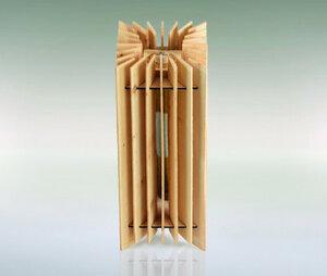 Klimagerät aus Zirbenholz 18x18x44   100 % Handarbeit   bis ca. 16 m3 - 4betterdays