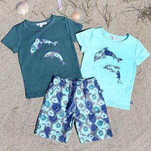 Kurzarmshirt Delphin grün - Enfant Terrible
