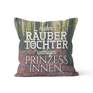 Räubertöchter in the woods - Kissenbezug 40 x 40 cm - What about Tee