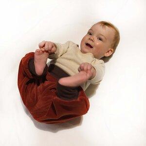 Baby Gemütlichkeitshose Henna/Schoko - bingabonga