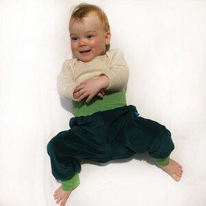 Baby Gemütlichkeitshose smaragd/lime-meliert - bingabonga