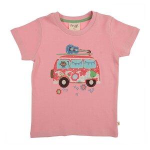 Kurzarmshirt VW-Bus rosa - Frugi