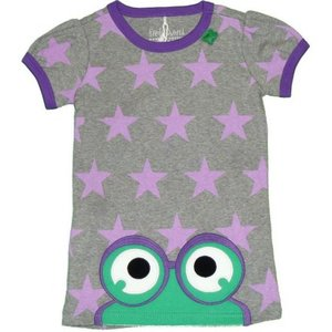 Kurzarmshirt Star peep T girl - Green Cotton