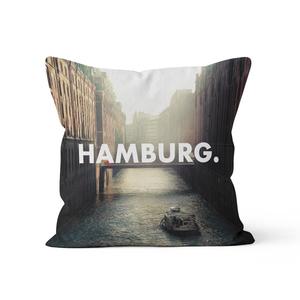 Hamburg. - Kissenbezug 40 x 40 cm aus Biobaumwolle - What about Tee