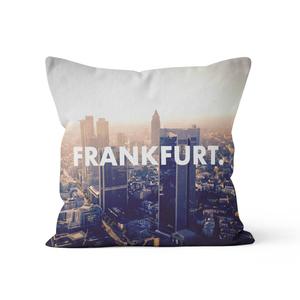 Frankfurt. - Kissenbezug 40 x 40 cm aus Biobaumwolle - What about Tee