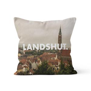 Landshut. - Kissenbezug 40 x 40 cm aus Biobaumwolle - What about Tee