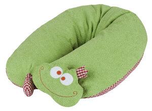 Stillkissen Frosch, abnehmbarer Kopf mit Rassel (patentiert),100 % Made in Germany - Efie