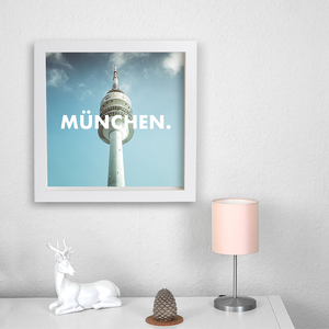 München. - Poster 50 x 50 cm - What about Tee