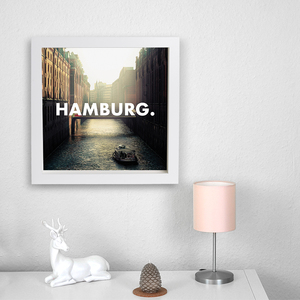 Hamburg. - Poster 50 x 50 cm - What about Tee