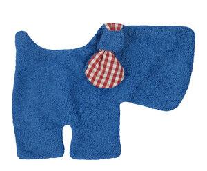Schmusetuch/Schnuffeltuch Hund blau, kontrolliert biologischer Anbau, 100 % Made in Germany - Efie