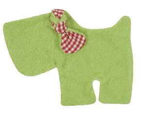 Schmusetuch/Schnuffeltuch Hund grün, kbA, 100 % Made in Germany - Efie