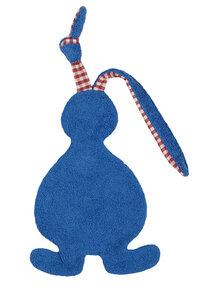 Schmusetuch/Schnuffeltuch Hase blau, kontrolliert biologischer Anbau,  - Efie
