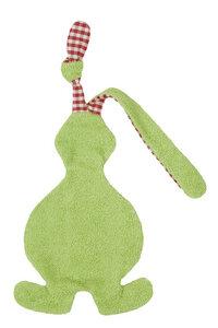 Schmusetuch/Schnuffeltuch Hase grün, kontrolliert biologischer Anbau, 100 % Made in Germany - Efie