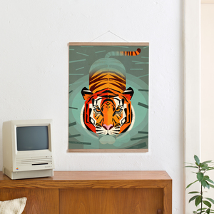 Set / Swimming Tiger + Posterleiste Eiche 50 cm - Kleinwaren / von Laufenberg