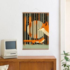 Set / Midnight Foxes + Posterleiste Eiche 50 cm - Kleinwaren / von Laufenberg