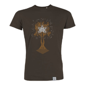 Pachamama - Siebdruck T-Shirt - braun - Sacred Designs