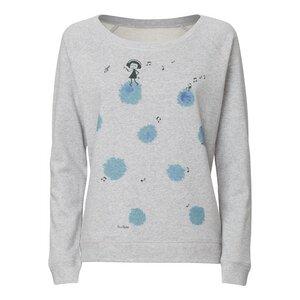 FellHerz Dancing Queen Wide Neck Sweater heather grey - FellHerz