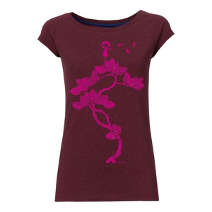 FellHerz Flötenspielerin Cap Sleeve pink/dark red melange - FellHerz