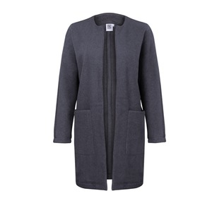 Long Jacket  ALAN black melange - JAN N JUNE