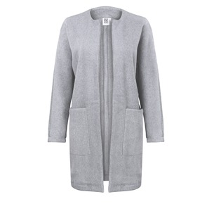 Long Jacket  ALAN light grey melange - JAN N JUNE