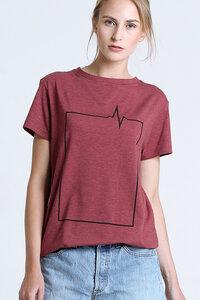 T-Shirt 4Square // Rot - WIEDERBELEBT