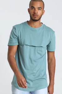 T-Shirt mit Passe // Mintgrün - WIEDERBELEBT
