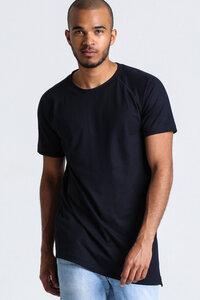 T-Shirt Asymmetrie // Schwarz - WIEDERBELEBT