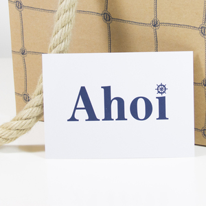 Postkarte Ahoi - Bow & Hummingbird