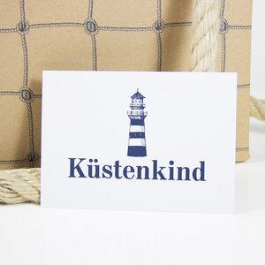 Postkarte Küstenkind - Bow & Hummingbird