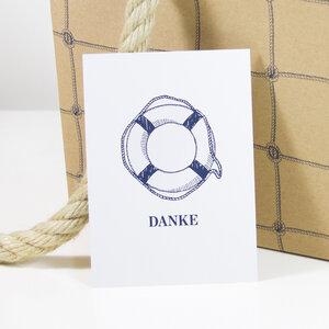Postkarte Danke - Bow & Hummingbird