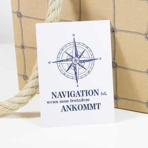 Postkarte Navigation - Bow & Hummingbird