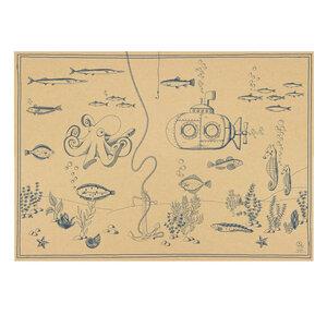 Geschenkpapier/Poster Unterwasserwelt - Bow & Hummingbird