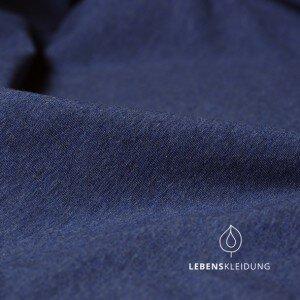 Bio-Baumwoll-Jersey blau meliert - Lebenskleidung
