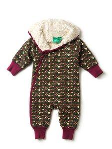 Baby u. Kinder Schneeanzug grün Waldblume kbA Baumwolle - Little Green Radicals