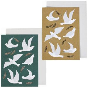 Grußkarte Tauben in 2 Farben - ava&yves