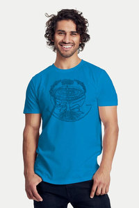 "Bio-Herren-T-Shirt ""Weltenesche"" - Peaces.bio - Neutral® - handbedruckt"