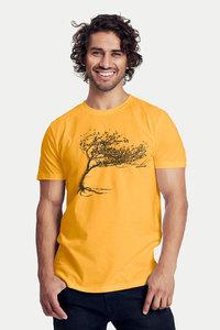 "Bio-Herren-T-Shirt ""Windy Tree"" - Peaces.bio - Neutral® - handbedruckt"