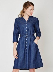 Frances Shirt Dress - Indigo - Thought | Braintree